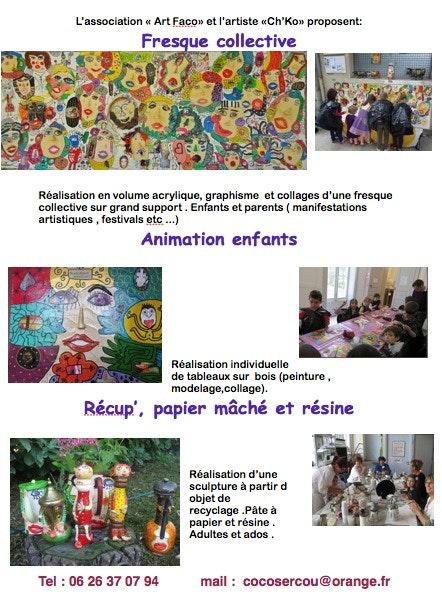 Animation arts plastiques.  Chko