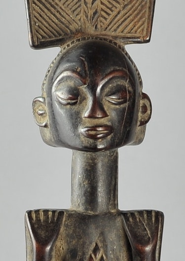 Luba Kibango Bâton de Chef Sceptre Canne Regalia Congo Rdc. Galerie De La Louve Arts Premiers