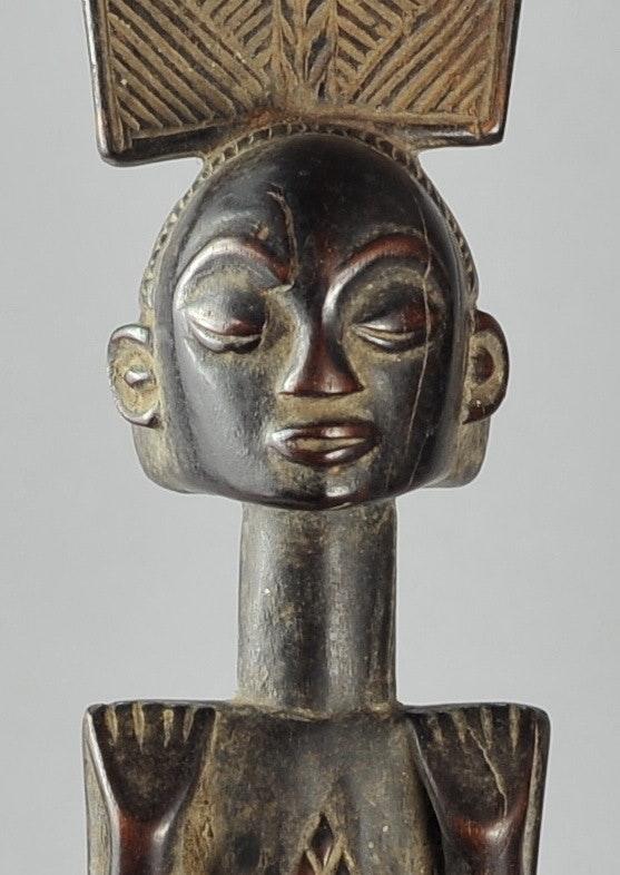 Luba Kibango Bâton de Chef Sceptre Canne Regalia Congo Rdc. Peuple Luba Galerie De La Louve Arts Premiers