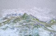 Le Mont Pourri vu de La Rosière - Savoie.