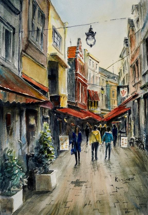 Walking in Bruges. Karine Andriasyan Karine Andriasyan