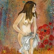 La Dame aux coquelicots. Serge Mogère