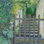 L'escalier du Verger après la pluie. Michèle Buchet
