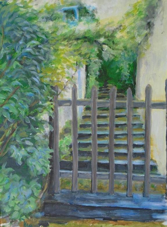 L'escalier du Verger après la pluie. Michèle Buchet Michèle Buchet