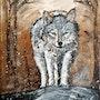 Loup en approche. L'atelier De Virginie