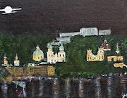 Salzburg in the Moonlight. Michela Curtis