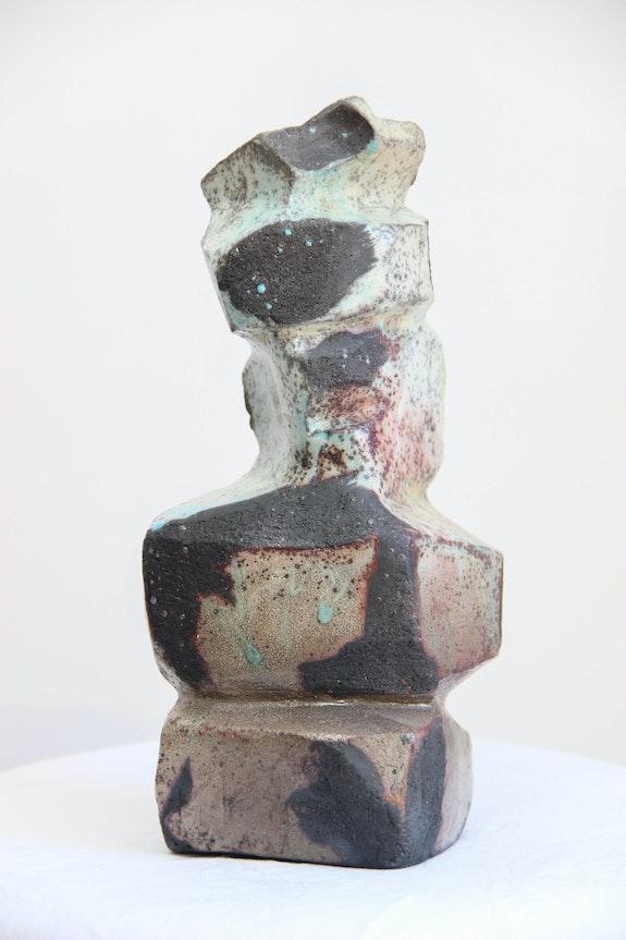 Sculpture stylisée en Raku. Annie Bidal Annie B.