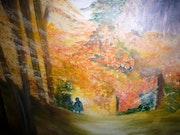 Forêt automnale. Patricia Juteau