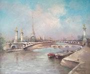The Alexander III Bridge.