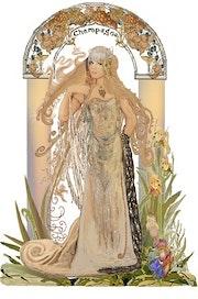 Modern Art Nouveau'Champagne'. Dean Clarke