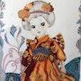 Aquarelle originale signée « la petite japonaise ». Nila
