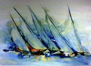 Voiliers bleus. Bernard Courtalon