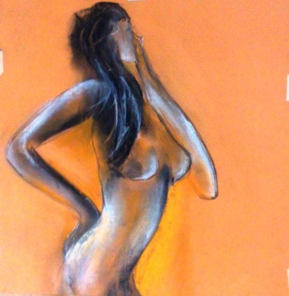 Femme nue. Bernard Courtalon. Bernard Courtalon