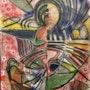 Mon abstrait a la mine de plomb et aux pastels secs. Breek Kuntz