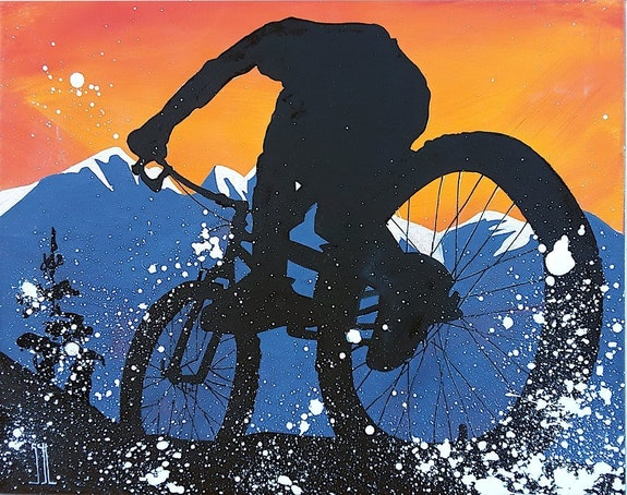 Mountain bike. L'aquarelle Autrement L'aquarelle Autrement