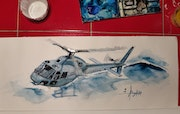 As555 fennec sar. Forangeart F. Baldinotti Peintre De l'air