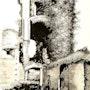 Ruines du château de Tiffauges. Michèle Buchet