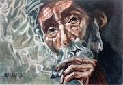 Vieux fumeur.