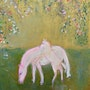 Young Horses in Spring. Michela Curtis