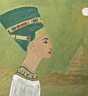Queen Nefertiti at the Pyramid.