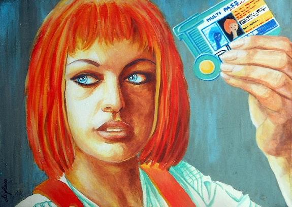 «Lee Loo Dallas»; portrait d'après Le Cinquième Element. Sophie Duplain Sophie Duplain