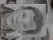 Tom Holland the spider man'a portrait drawing. Rafiz