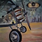 «Vol au dessus des marguerites» Nieuport 17. Emmanuelle Hildebert