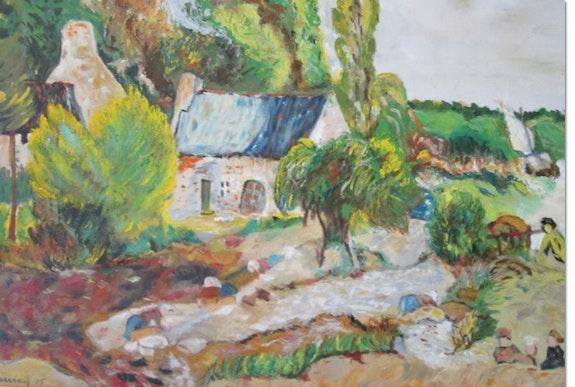 Les Lavandières de Pont Aven. Françoise Allely Charvieux Françoise Charvieux