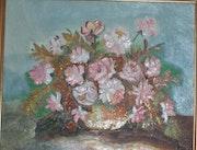 Bouquet fleurs. Francoise Charvieux
