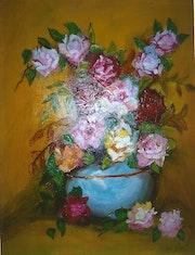 Bouquet de roses. Francoise Charvieux