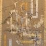 Tapisserie Renaissance «Lin & Or»-210x130 cms- peinture acrylique. Peintre Abstrait Contemporain