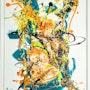 Oeuvre «mixed medias». Peintre Abstrait Contemporain