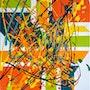 Oeuvre «puzzle»-artwork «puzzle». Peintre Abstrait Contemporain
