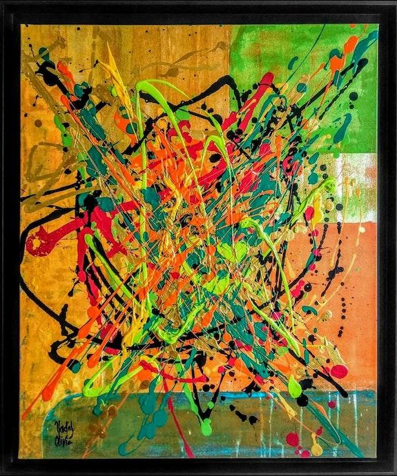 Oeuvre «copper»- artwork «copper»-. Nadal Olivie Nathalie (Cotée I-Cac) Peintre Abstrait Contemporain