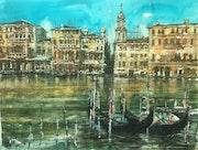 Gondoles à Venise. Emilian Alexianu