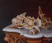 Bodegón Conchas marinas. Valian