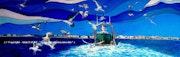 Retour au port. Alain Faure En Peinture