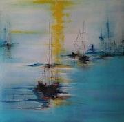 Acrilico sobre lienzo abstracto.