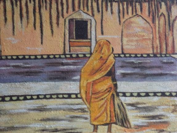 Una mañana de verano en la india. Isabel Perez