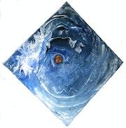 Bleu espace galaxie.