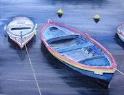 Bizerte, barques dans le vieux port. Mycopole