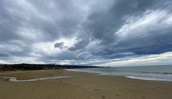 A stormy winter day on the Adriatic Sea - North view. Fairy Tales Fairy Tales