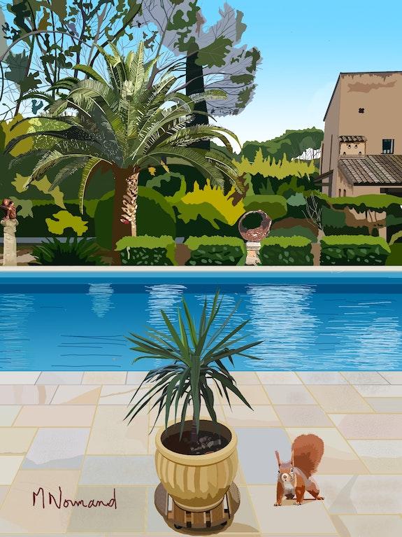 2021-01-24 Le jardin de Valescure en hiver. Michel Normand (Artiste Coté) Michel Normand