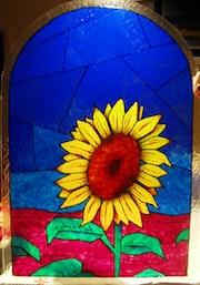 Sunflower glass.