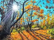 Sous-bois en automne vers Chirens. Eric F.