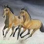 Pintura al óleo de caballos. Ismael