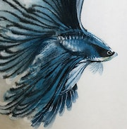 Betta Fish No. 6 (2021, Detail). Danny Liu