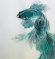 Betta Fish No. 7 (2021, Detail). Danny Liu