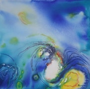 Painting-Abstraction-Watercolor «Sea Blue iii».