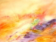 Abstract watercolor painting «Connivence».